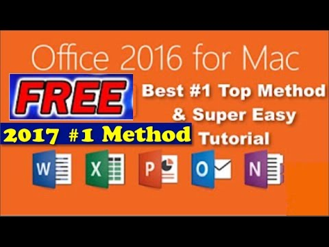 How To: Get Microsoft Office 2016 Full Version For Mac (FREE) 2 Methods