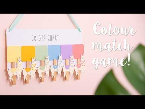 DIY: Colour Match Game - Sizzix