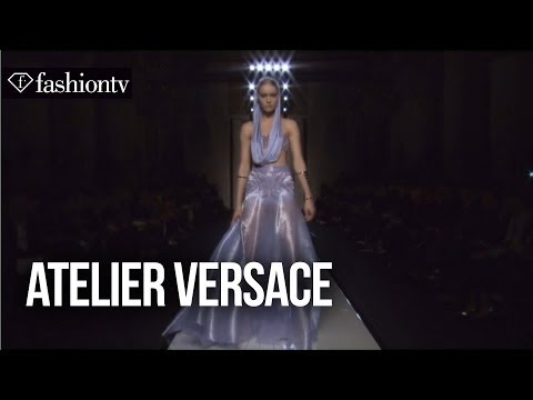 couture - http://www.FashionTV.com/videos PARIS - FashionTV grabs a seat in the front row at the Atelier Versace Spring/Summer 2014 show at Paris Couture Fashion Week....