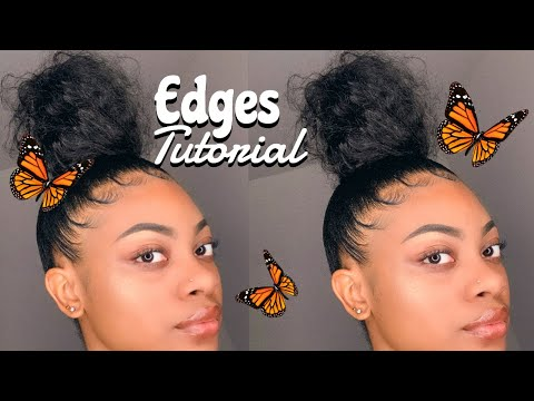 HOW TO SLAY YOUR EDGES w/ Messy Bun🤎☺️✨