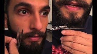Deepika Padukone Boyfriend Ranveer Singh Cut His Mustache And Beard - Full Video