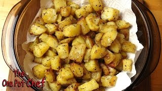 Seasoned Roast Potato Bites is a simple, flavour-packed side dish, perfect to go with roast meats. Potatoes are diced and partly ...