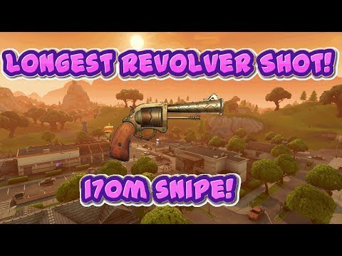 WORLD RECORD REVOLVER SHOT FORTNITE! 170M SNIPE FORTNITE BATTLE ROYALE