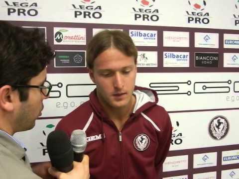 Arezzo-Maceratese 1-0, intervista a Capece