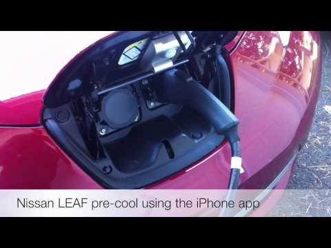 Pre-cooling A Nissan LEAF With The IPhone App