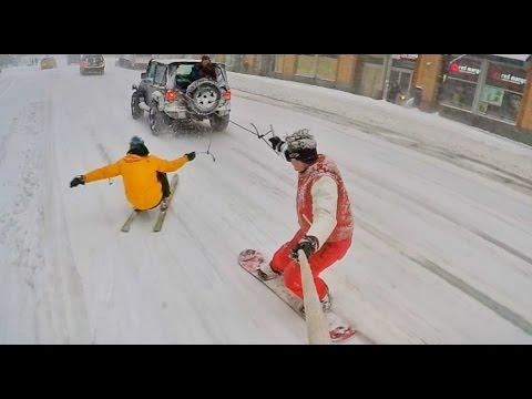 Snowboarding Through NYC - This Video Is Epic!