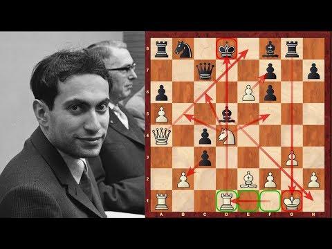 Mikhail Tal's mega-complex game against Dieter Keller played at the 1959 Zurich tournament