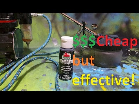 Make your own air brush paint for 54 cents (easy to make)