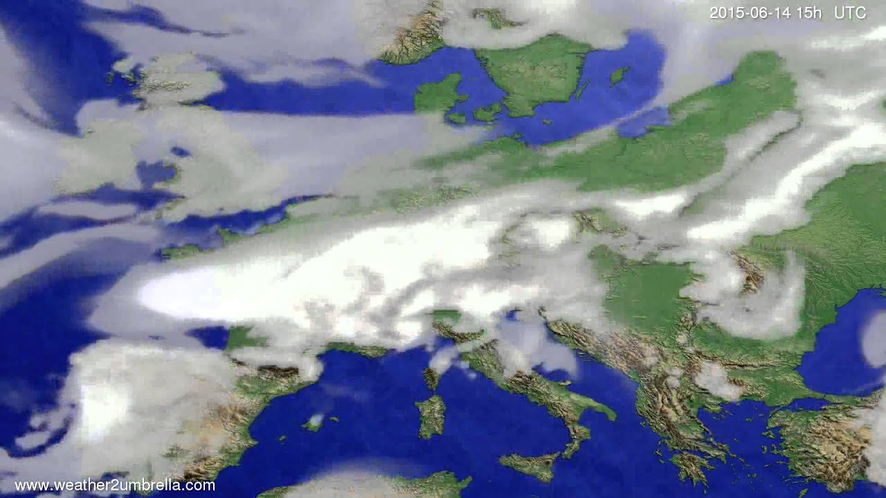Cloud forecast Europe 2015-06-12