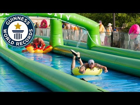 Longest distance travelled on a slip and slide Guinness World