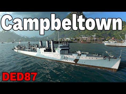 jedyny niszczyciel z UK  - Campbeltown- World of Warships