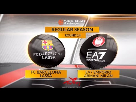EuroLeague Highlights RS Round 14: FC Barcelona Lassa 89-75 EA7 Emporio Armani Milan