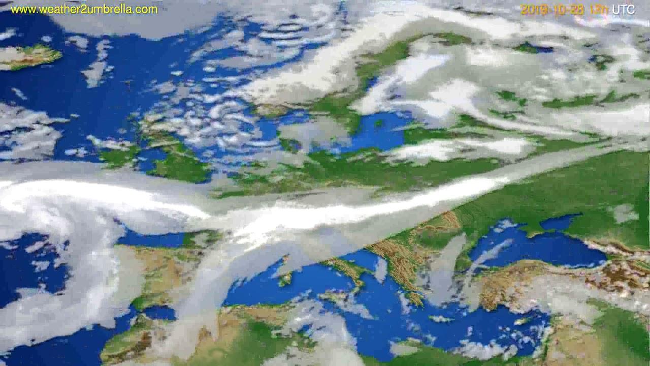 Cloud forecast Europe // modelrun: 00h UTC 2019-10-27