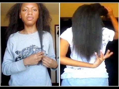 Taking Out My Weave + Straightening my Natural Hair