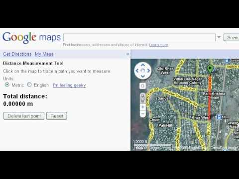 how to measure km on google maps