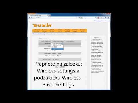 Nastavení Wi-Fi sítě produktu Tenda W311R+.