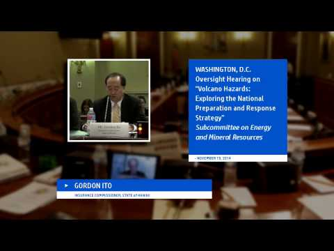 Hawaii Lava Discussed in Washington D.C. - Insurance Commissioner Ito