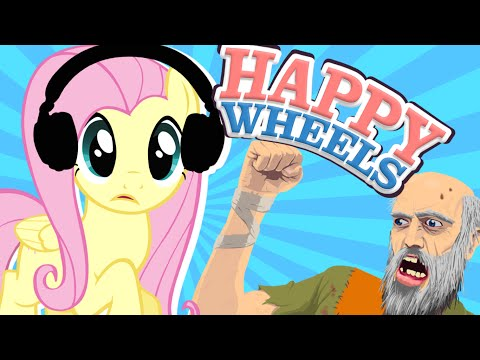 Fluttershy Plays Happy Wheels 🍉 | What Is THIS?