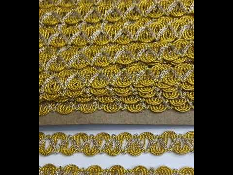 Passamanaria Fita Amarelo Brilho Prata 15mm