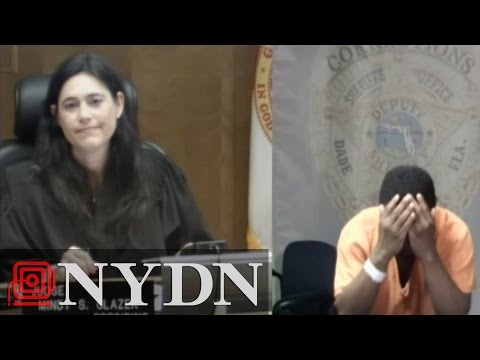 Video: Video:  Burglary Suspect Breaks Down in Court Upon Realizing Judge is Old Middle School Pal