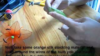 How To Make Silk Stocking Flowers - Lily - YouTube Video