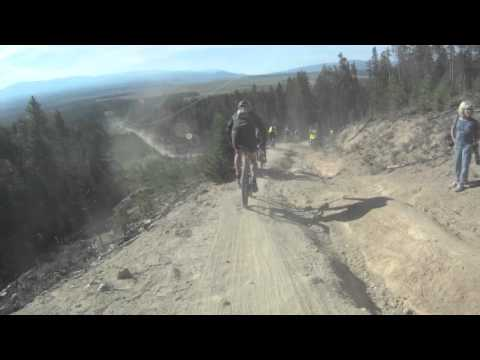 2011 Leadville 100 MTB Trail Race Powerline Descent Downhill Mountain Bike Race Across The Sky