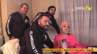 Catarina, que tem um tumor na face,recebeu a ajuda dos Enlameados TT.