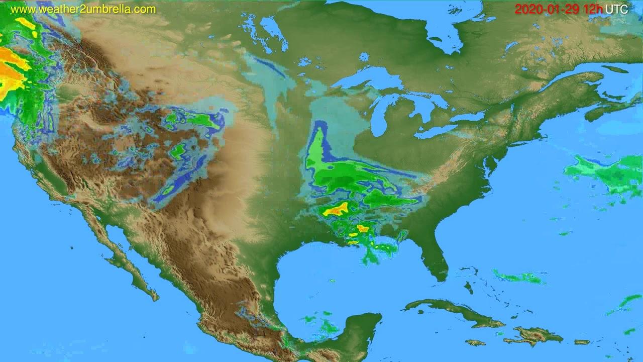 Radar forecast USA & Canada // modelrun: 00h UTC 2020-01-29