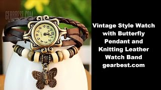 I just bought this from gearbest.com Black Vintage Style Watch with Butterfly Pendant and Knitting Leather Watch Bandhttp://www.gearbest.com/women-s-watches/pp_17337.htmlWatches categories: Female table Available color: Green, Purple, Brown, Orange Style : Fashion&Casual