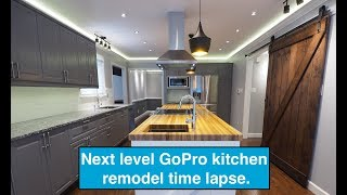 Next Level GoPro Amazing Kitchen remodel timelapse.