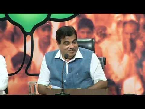 Press Conference by Shri Nitin Gadkari on Bihar Package : 26.08.2015