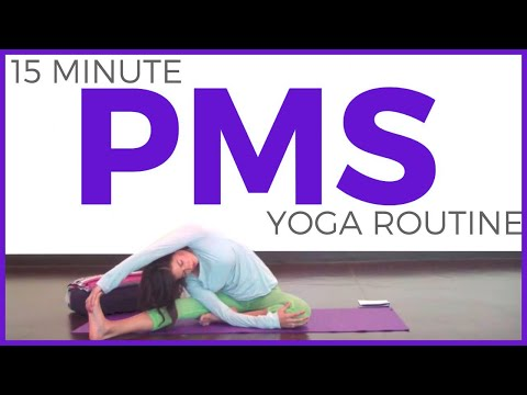 Yoga for Your Period | Yoga for PMS, cramps, bloating (15 minutes)