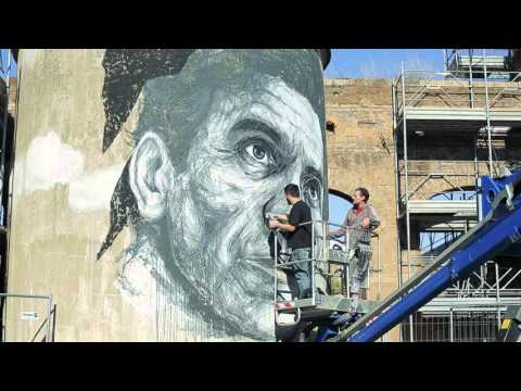 Video: Frederico Draw's mural tribute to Pier Paolo Pasolini.