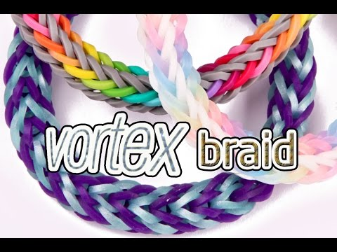 How to Make a Vortex Braid Rainbow Loom Bracelet – EASY #justinstoyshybrid Design