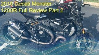 8. 2016 Ducati Monster 1200R Review Part 2