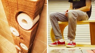 Video 10 AMAZING PROJECTS MADE FROM WOOD MP3, 3GP, MP4, WEBM, AVI, FLV April 2019