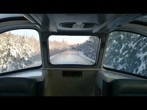 Cruzando o Canadá de trem Viarail no inverno