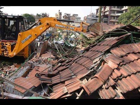 (भत्काइँदै धरहरा परिसरका संरचना ।। Dharahara kathmandu .. 2 min 25 sec)