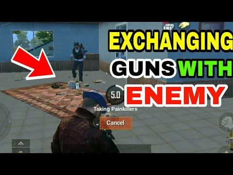 EXCHANGING GUNs WITH enemy | Pubg mobile trolling montage #15