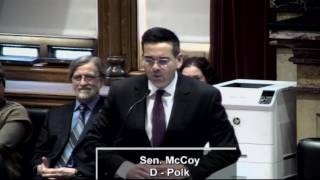 Senator McCoy Discusses Education Meeting from January 30th