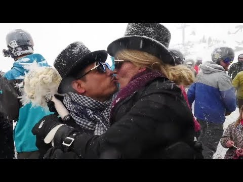 'I do' at 12K feet at Loveland Ski Area's Mountaintop Matrimony on Krystal 93 news 2.14.2018
