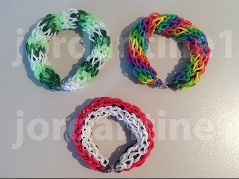 New Hollow Circle Bracelet – Rainbow Loom – One Loom
