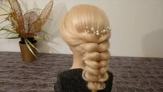 красивые необычные косы прически на средние волосы