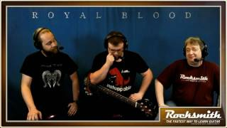 """This week, the gang plays all three songs from the Royal Blood song pack, including """"Figure it Out,"""" """"Out of the Black,"""" and """"Little Monster"""" -- they also revisit """"Paralyzer"""" by Finger Eleven! Also, Sam and Travis share a single bass for the opening track! -- Watch live at https://www.twitch.tv/rocksmithgame"""