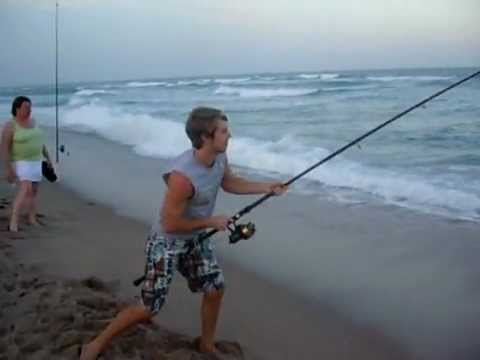 SHORE FISHING - Video of my cousin Jordan and my brother Jake Big Game Shore Fishing in Florida. Visit our website: http://blacktiphfishing.org/ SPONSORS: http://barrettrods...