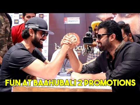 Video Prabhas and Rana's Fun During Baahubali 2 Promotions download in MP3, 3GP, MP4, WEBM, AVI, FLV January 2017