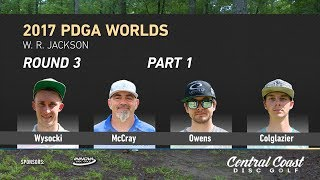 Watch as the MPO Lead card takes on W. R. Jackson Disc Golf Course in the third round of the 2017 PDGA World Championships.http://www.patreon.com/CCDGhttp://centralcoastdg.comhttps://www.instagram.com/centralcoastdiscgolfhttp://www.facebook.com/pages/CentralCoastDiscGolfhttps://twitter.com/CCoastDiscGolfhttps://soundcloud.com/uniquesyntax/rocking-to-brock-unique-syntax-and-atheist-beat-by-brock-berriganhttps://www.facebook.com/therockytropic/http://www.soundcloud.com/therockytropic