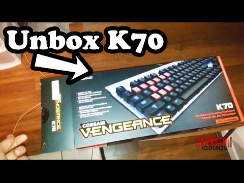 R3DLIN3S - Unboxing Corsair Vengance k70 Keyboard Gaming Mechanical Keyboard Corsair Vengeance k70 Gaming Mechanical Keyboard unboxing. unboxing Mechanical gaming keybo...
