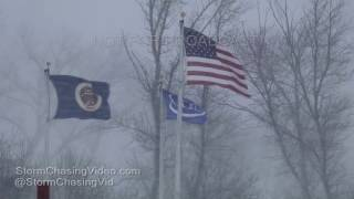 Video of Intense and Extreme Blizzard that is occurring in Western Minnesota with Whiteout conditions and power outages 4 foot...