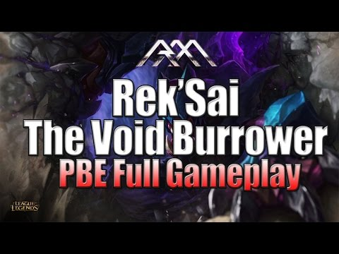 Rek'Sai Gameplay – League of Legends – Full Game Commentary